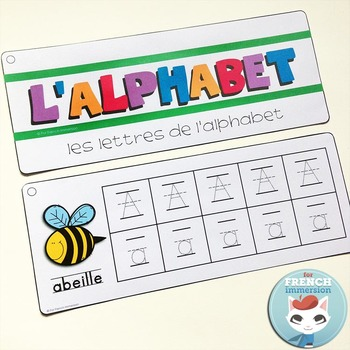French Alphabet Center - Writing Practice Strips