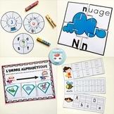 French Alphabet Centers Bundle - Centres de littératie: l'alphabet