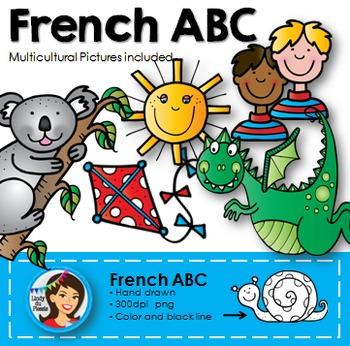 French Alphabet Clip Art