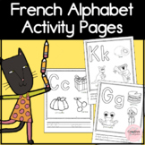 French Alphabet Book Coloring and Activity Pages