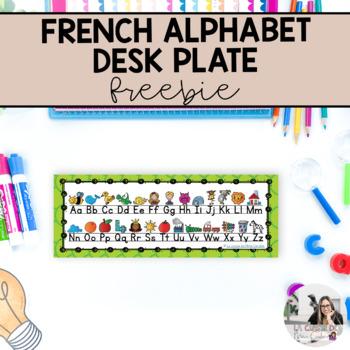 French Alphabet Deskplate Freebie