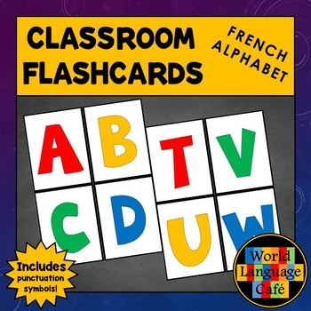 French Alphabet Flashcards, Punctuation, L'alphabet Flashcards