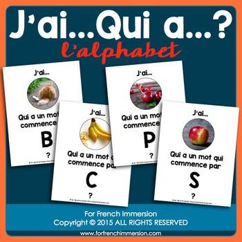 French Alphabet Game - J'ai… Qui a…?