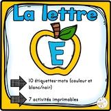 """French Alphabet - L'alphabet - La lettre """"E"""""""