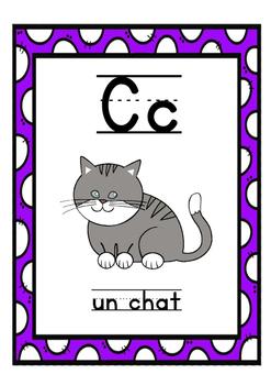 French Alphabet Posters / L'alphabet français