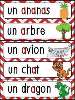 French Alphabet - Les lettres de l'alphabet - Ensemble complet