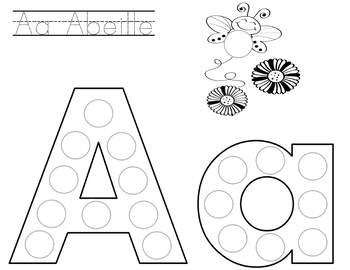 French Alphabet Letters for Stickers/Dot Markers