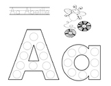 French Alphabet Letters for Stickers/Dot Markers (Sample)