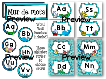 French Alphabet Line & Word Wall Headers