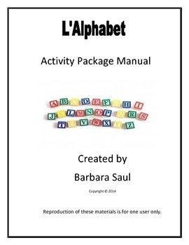 French Alphabet Package