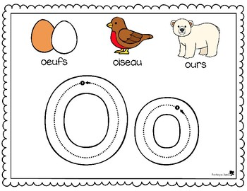 French Alphabet Play Dough Mats