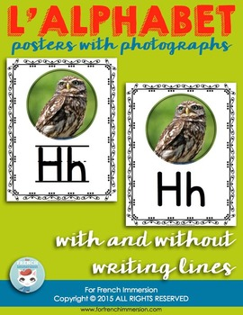 French Alphabet Posters - Real Pictures