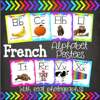 French Alphabet Posters Using Real Photographs