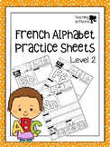 French Alphabet Printing Practice - Level 2