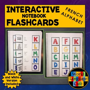 French Alphabet, Punctuation Interactive Notebook Flashcards