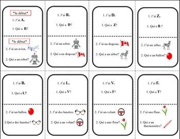 French Alphabet Qui a Game