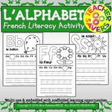 French Alphabet Recognition Literacy Activity Sheets Playdough/LooseParts etc.