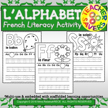 French Alphabet Recognition Literacy Activity Sheets Playd