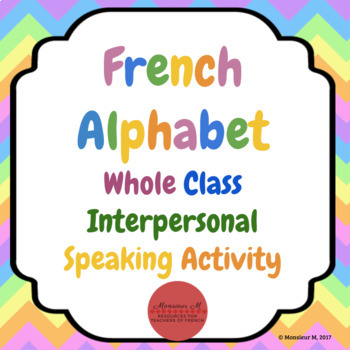 French Alphabet Whole-Class Speaking Activity
