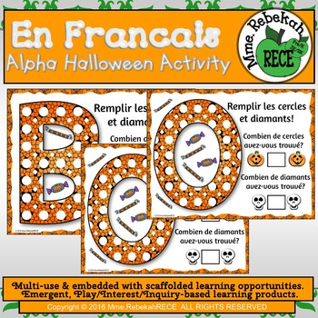 French Alphabet and Numeracy Halloween Theme Printables Activity