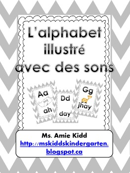 French Alphabet - with sounds and pictures