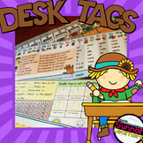 French And English Desk Tags (French Immersion)