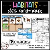 French Animal Habitats / Habitats des animaux