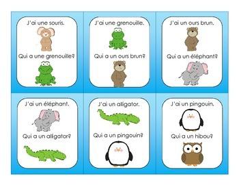 French Animal J'ai... Qui a...?