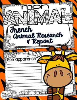 French Animal Research & Report Booklet
