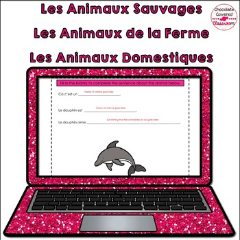 French Animals – Digital Interactive Notebook – Les Animaux