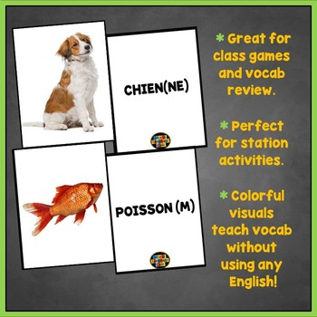 French Animals Flashcards, Les animaux Flashcards