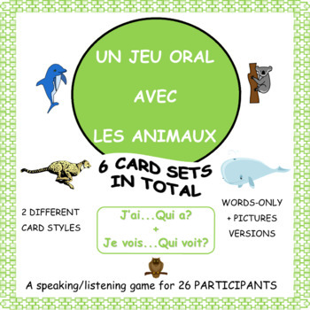 French Animals Game - Le cercle magique