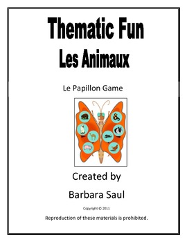 French Animals - Les Animaux Le Papillon Activity Centre Game