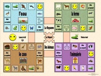 French Animals-Les Animaux Le Royaume des Animaux Game Board