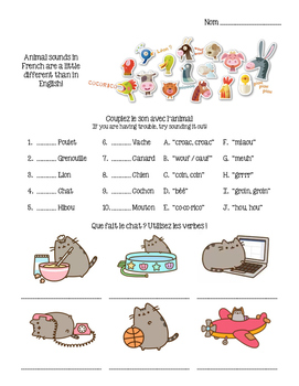 French - Animals (Substitute Plan)