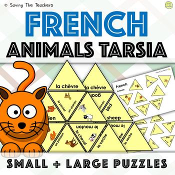 French Animals Tarsia Puzzle Activity