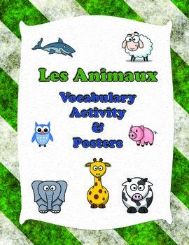 French Animals Vocabulary Activity Sheets