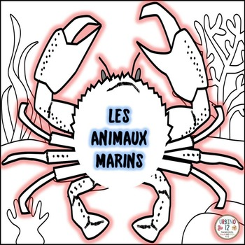 French: Les Animaux Marins Coloring