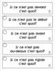 French Antonyms - Opposite Words