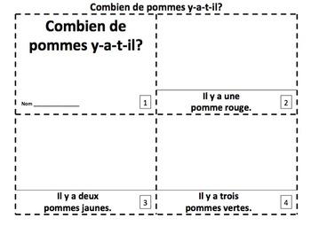 French Apples Emergent Reader Booklets - Combien de Pommes Y-a-t-il?