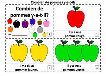 French Apples Emergent Reader Booklets - Combien de Pommes