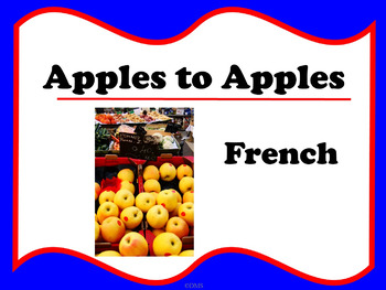 photo about Apples to Apples Cards Printable named French Apples toward Apples Playing cards
