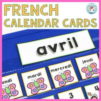 French April Calendar Cards | Avril