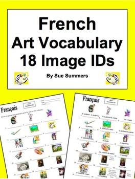 French Art 18 Vocabulary Image IDs Worksheet