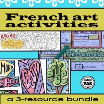 French Art Activities 3-resource Bundle