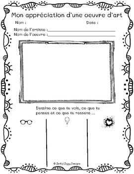 French Art Critique Sketch Notes #1 (Primary/Junior)- No Prep!