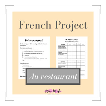 French Food Project - Au restaurant