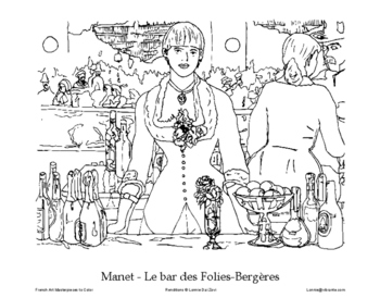 French Art Masterpieces to Color