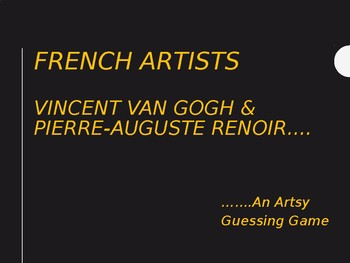 French Artists Guessing Game (in English)