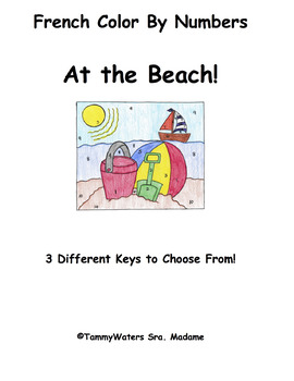 French At the Beach Color by Numbers